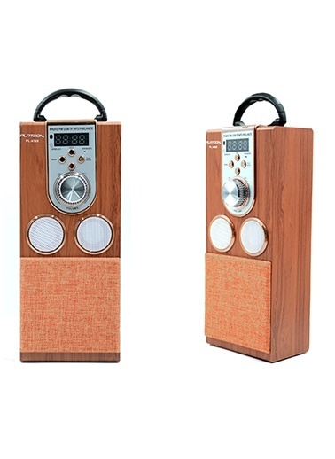 Platoon PL-4360 Bluetooth Speaker Fm/Sd/Usb Kahve
